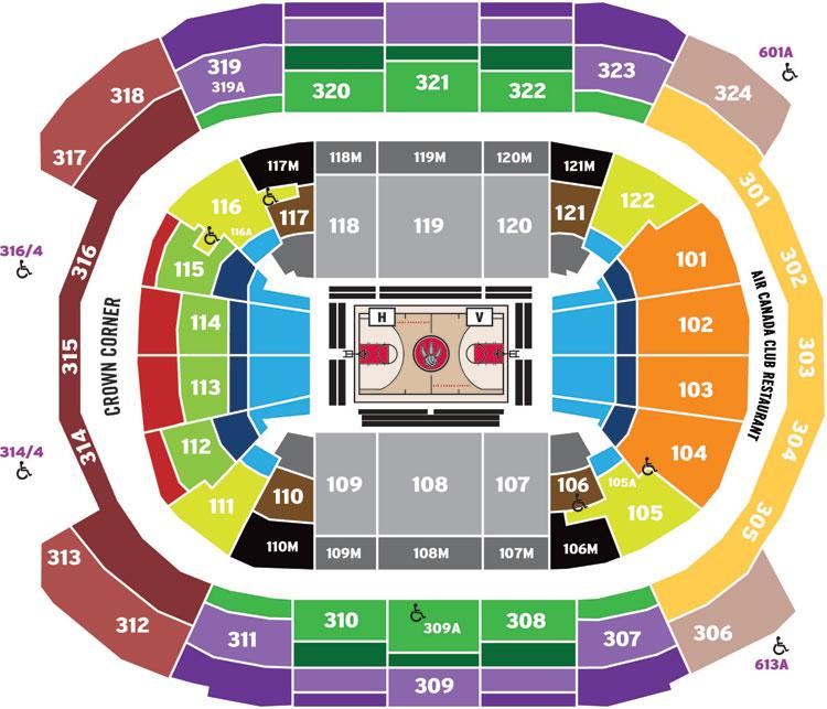 Acc Seating Map Raptors Toronto Raptors vs. Chicago Bulls | ReplyBuy